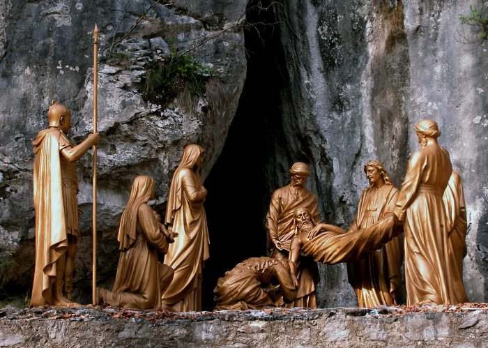 The Fourteenth Station: Jesus is laid in the tomb.