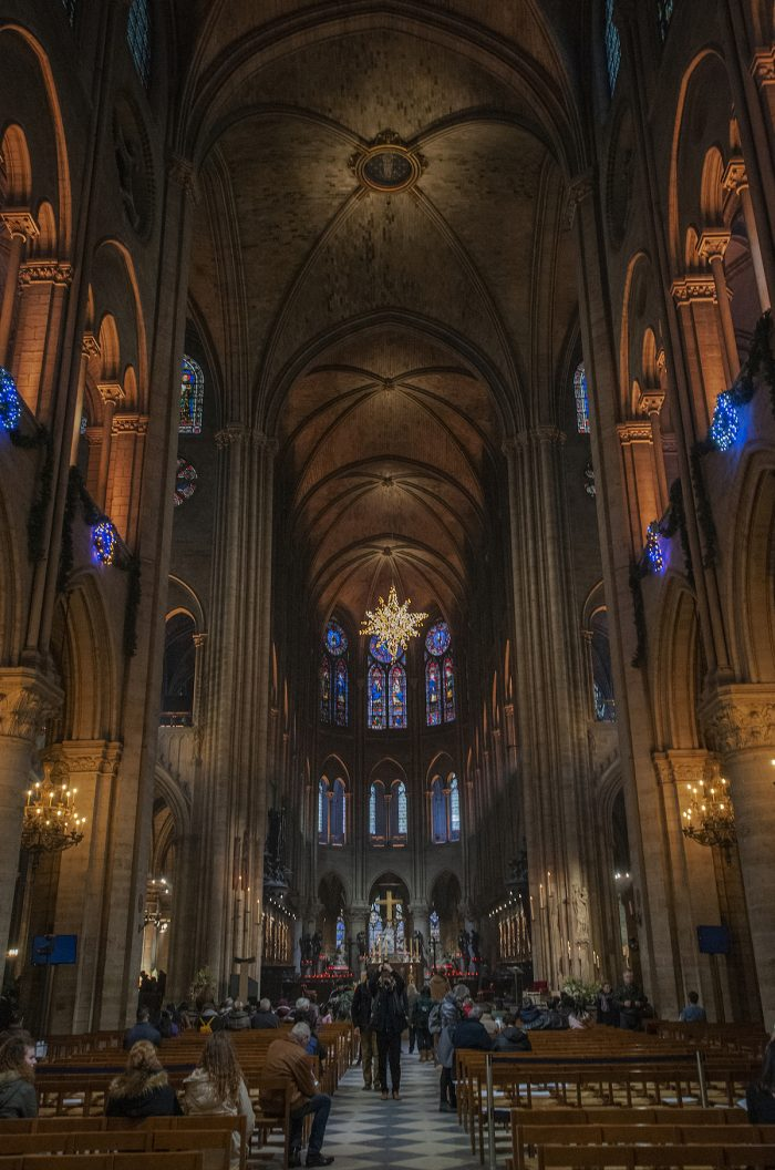The view from the entrance towards the altar. You have to crane your neck upwards to take in the magnificent arches that tower up high above you.