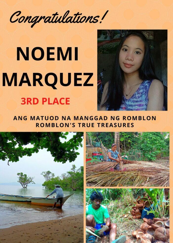 3rd grade Noemi Marquez