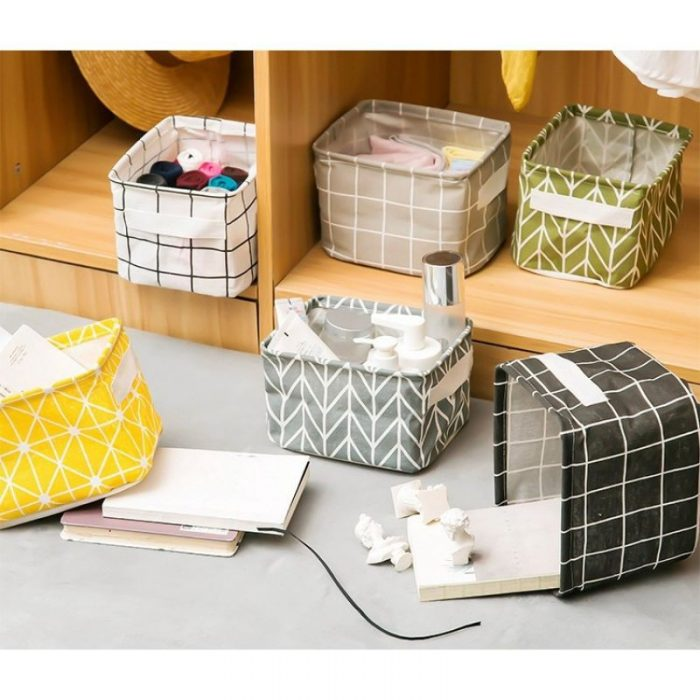 Aesthetic canvas Foldable waterproof desk organizer