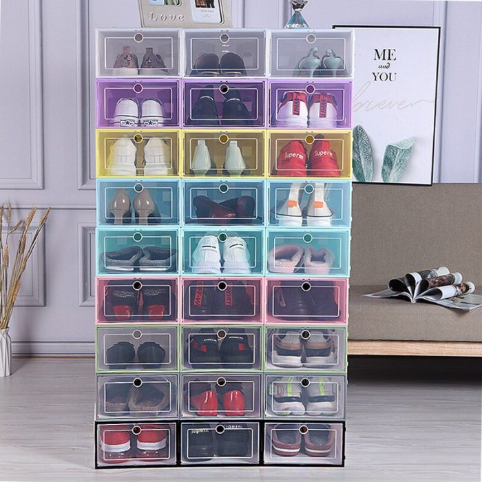 Candy Color Shoe Box Collapsible Drawer Bag Storage Organizer