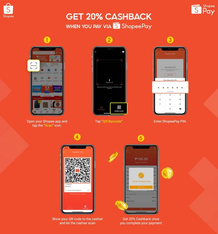 Get Cashback by using Shopee Pay