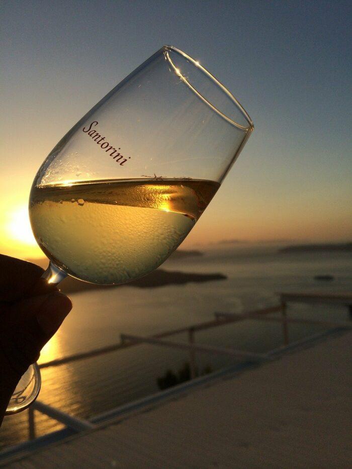 Wine in Santorini