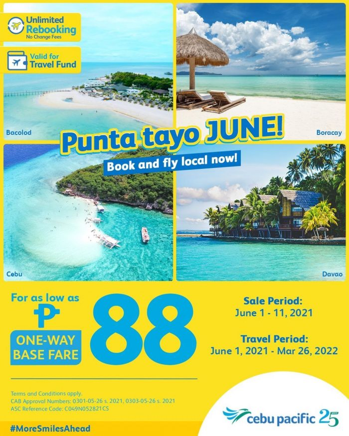 Cebu Pacific PHP88 Seat Sale