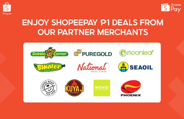 P1 ShopeePay Deals from Partner Merchants