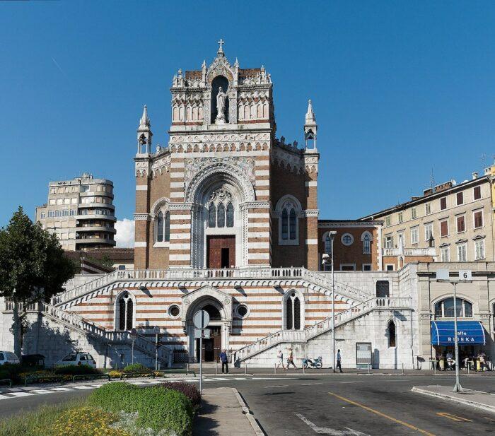 Rijeka Capuchin Church of Our Lady of Lourdes by Anroldius via Wikipedia CC