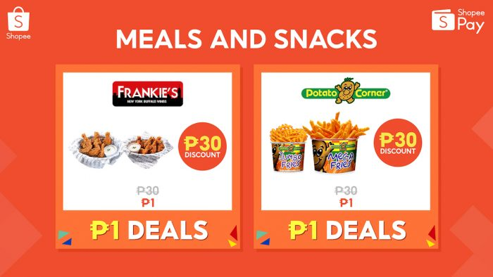 ShopeePay P1 Deals for Meals and Snacks
