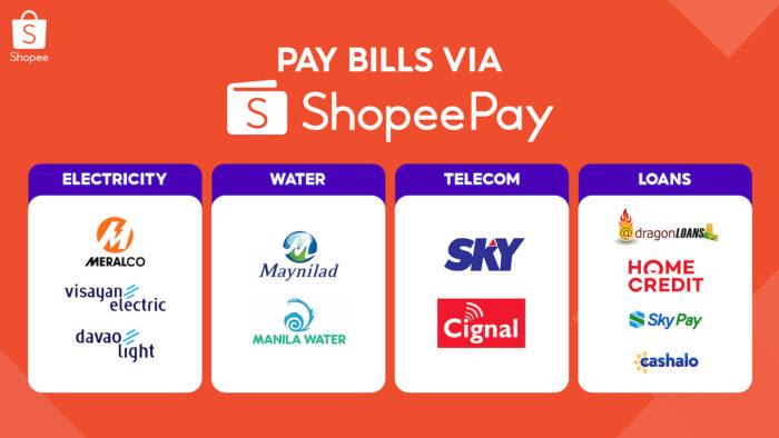 Pay bills through ShopeePay