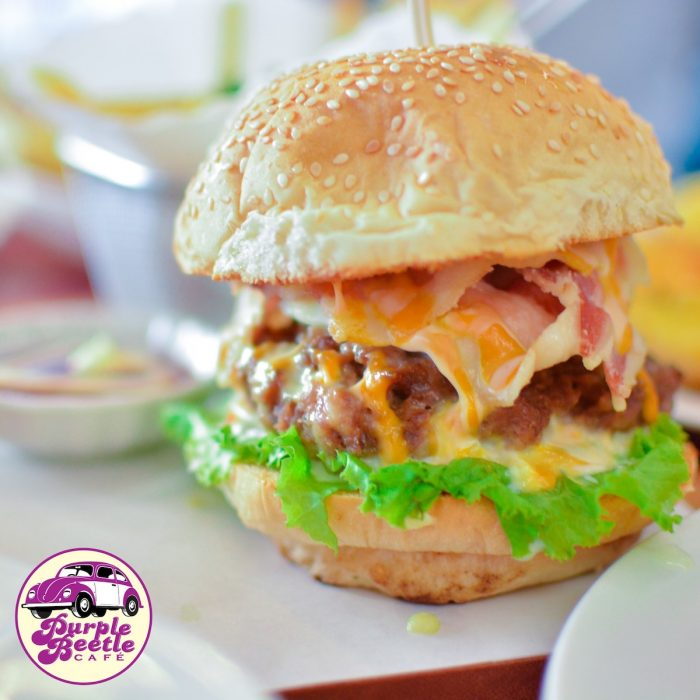 Purple Beetle - Cheesy Bacon Burger