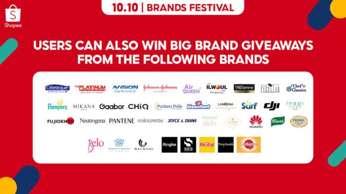 10.10 Shopee Big Brand Giveaways