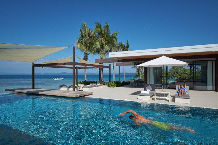 Villa Banwa Private Island Beach con piscina infinita privada