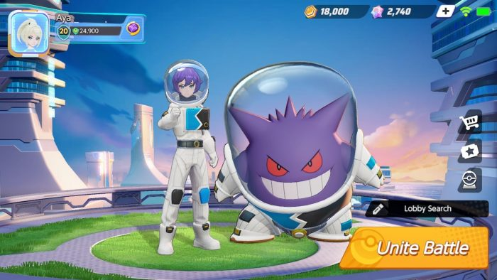 You can match Gengar's look with Space Set Trainer fashion items as you take part in Unite Battles!